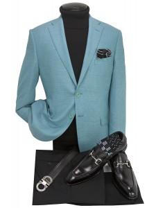 Men's Blazer by Tiglio Luxe - Firenze Lt Teal